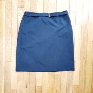 Ann Taylor Loft Stretch Black Skirt w/ belt